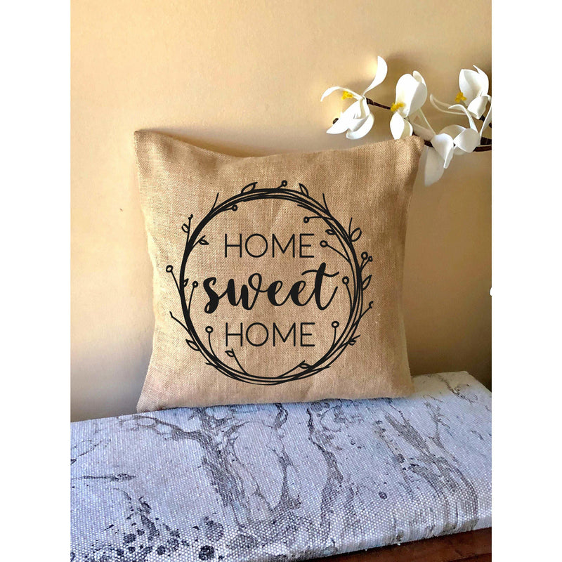 Home Sweet Home-Burlap Porch Pillows