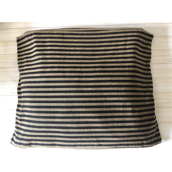 Ticking Stripe Black and Brown Pet Bed Cover