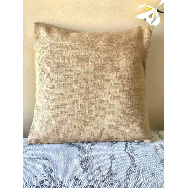 Bless this Home -Burlap Porch Pillow