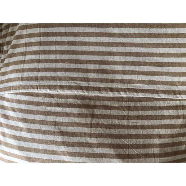 Ticking Stripe Beige and Ivory Striped Pet Bed Cover