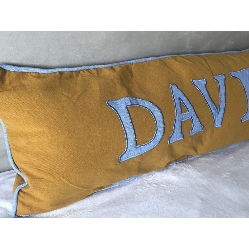 Personalized Appliqued Name Pillow Covers, Cotton Personalized Alphabet Pillow Cover, Bedroom Decor