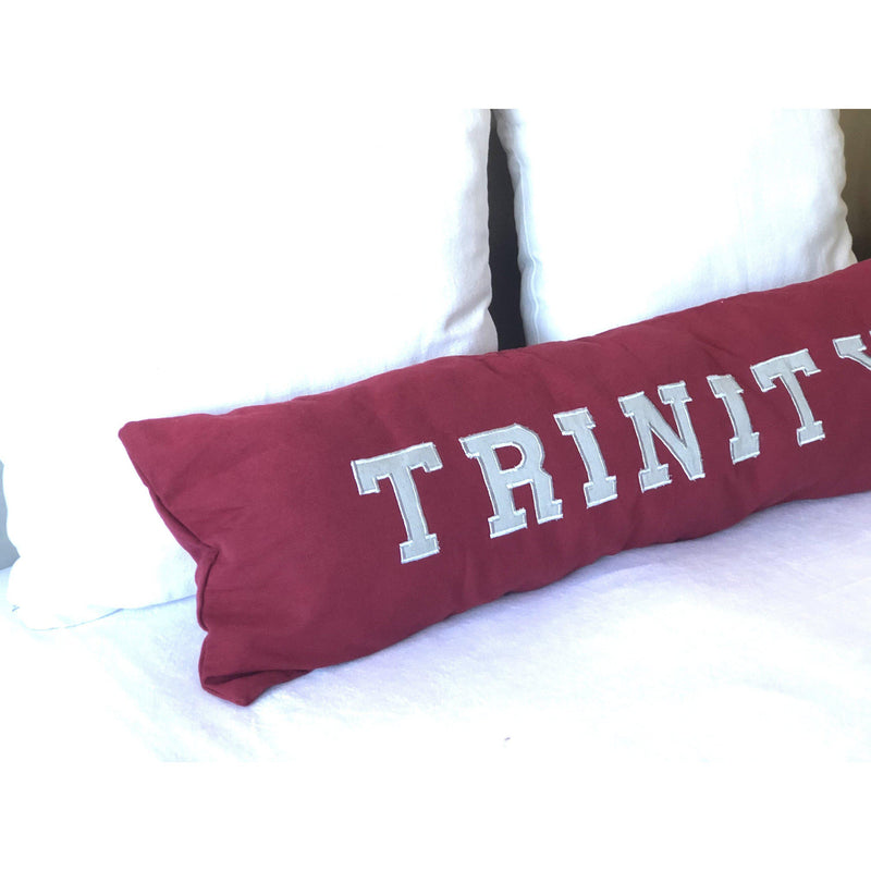 Appliqued Word Pillows, Applique College Pillow Cover