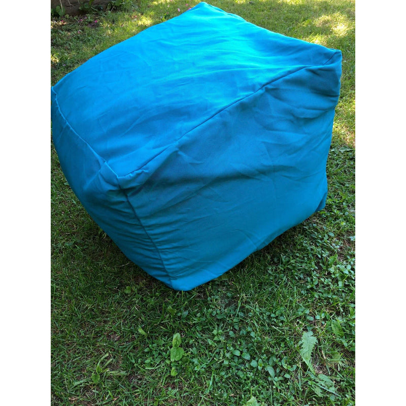 DIY Pouf Cover, Outdoor Poufs, Blue Bright Poufs