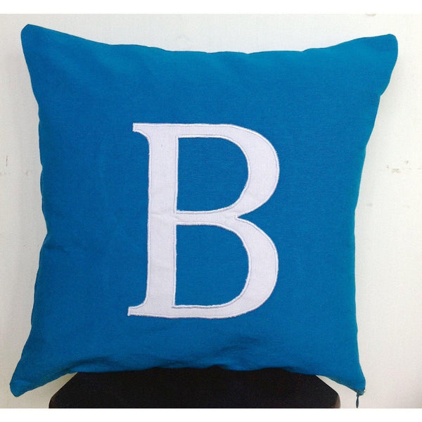 30% Off Birthday Gifts for Her, Monogram Personalized Gifts, 18x18 Blue Pillow Covers, Bedroom Decor