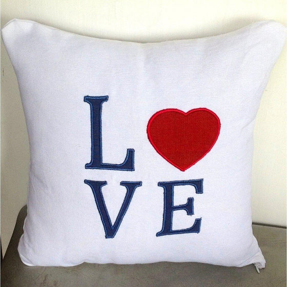 50% OFF Sale Red Heart Pillows, Red Heart Gifts, Love Pillow Covers, White Throw Pillow cover