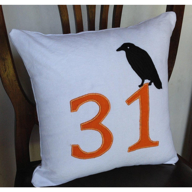 Holiday Pillow Cover, Halloween 14 Inches pillow cover-Fall Pillow Cover-October 31st White Pillow Cover-IN STOCK
