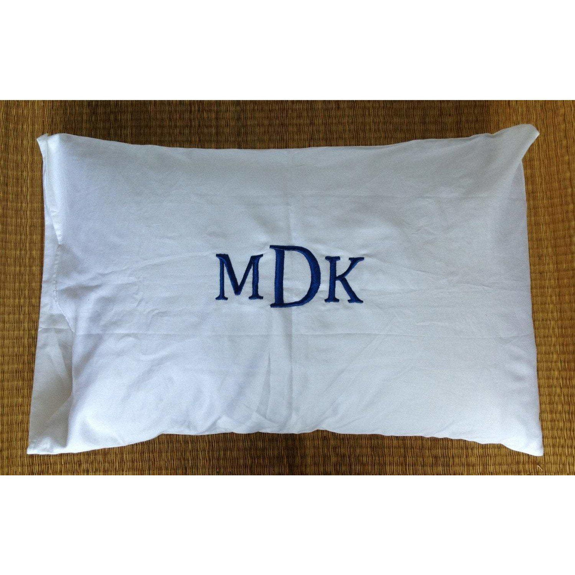 gift ideas for couples christmas, Monogrammed Pillowcase, (300 Thread Count) Monogram Pillow Case for Beds, White Monogram Pillow Case - Snazzy Living