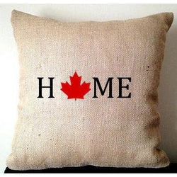 Canada Day Burlap Pillows