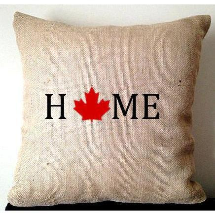 Canada day burlap pillows, Unique Gifts for her, Home Decor, Burlap Pillow covers, Home Pillows, Rustic Decor, Maple Pillows - Snazzy Living