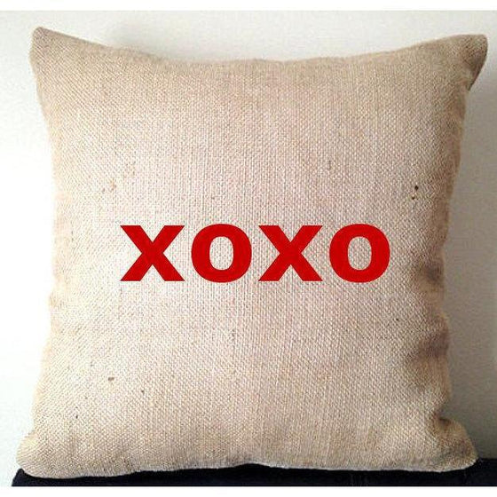 20% OFF Sale Valentine Unique Gifts for her, valentine s day 2016, Girl Friend Gift, Burlap Pillow covers, Home Pillows, Rustic Decor