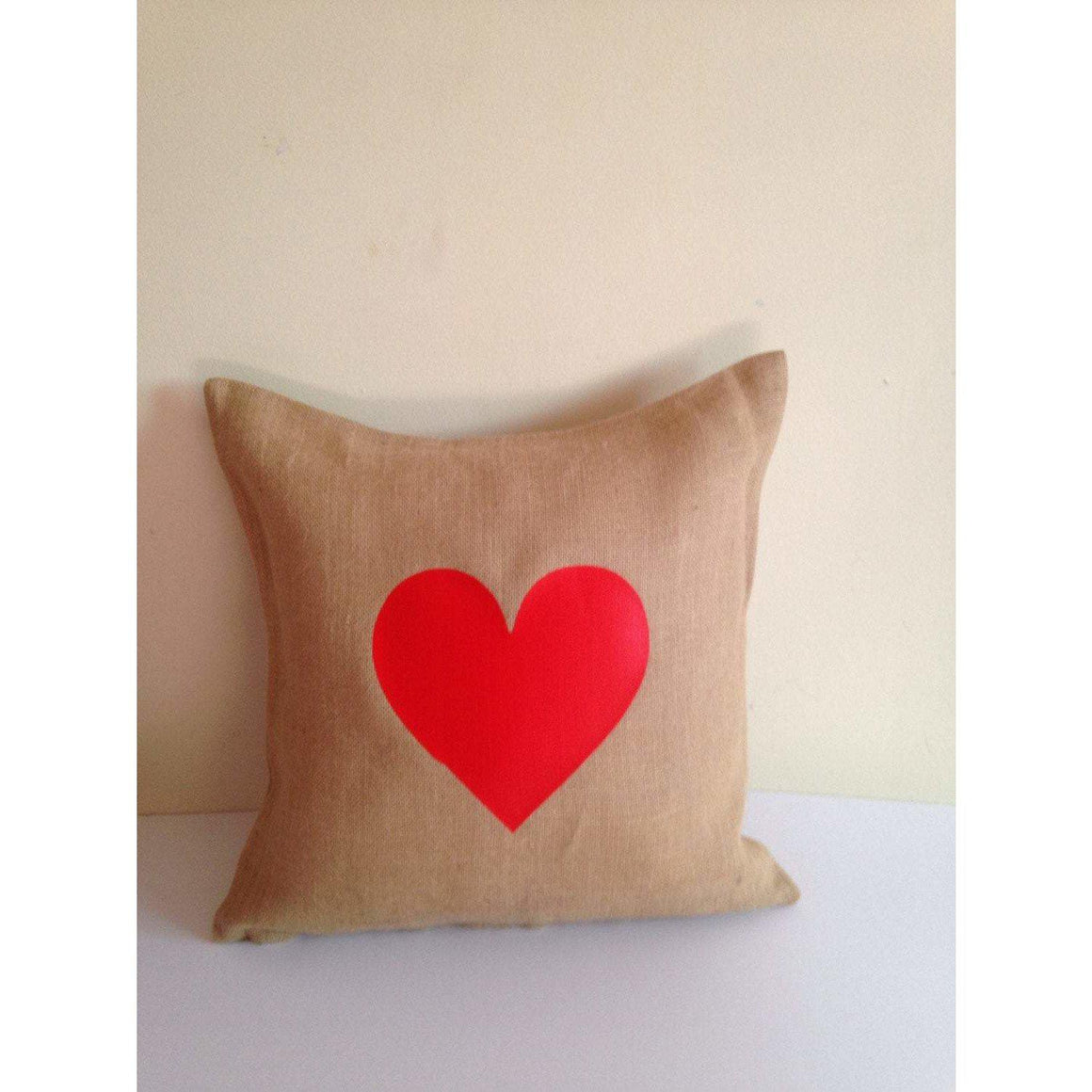 Girlfriend gift ideas christmas, Valentine Unique Gifts for her, Girl Friend Gift, Burlap Pillow covers, Rustic Heart Pillows - Snazzy Living