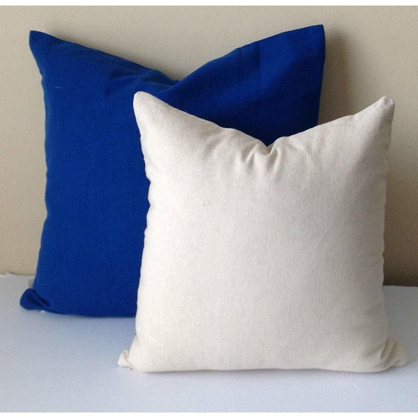 Set of two, Solid cotton Pillows, Big pillow cover, plain pillows,