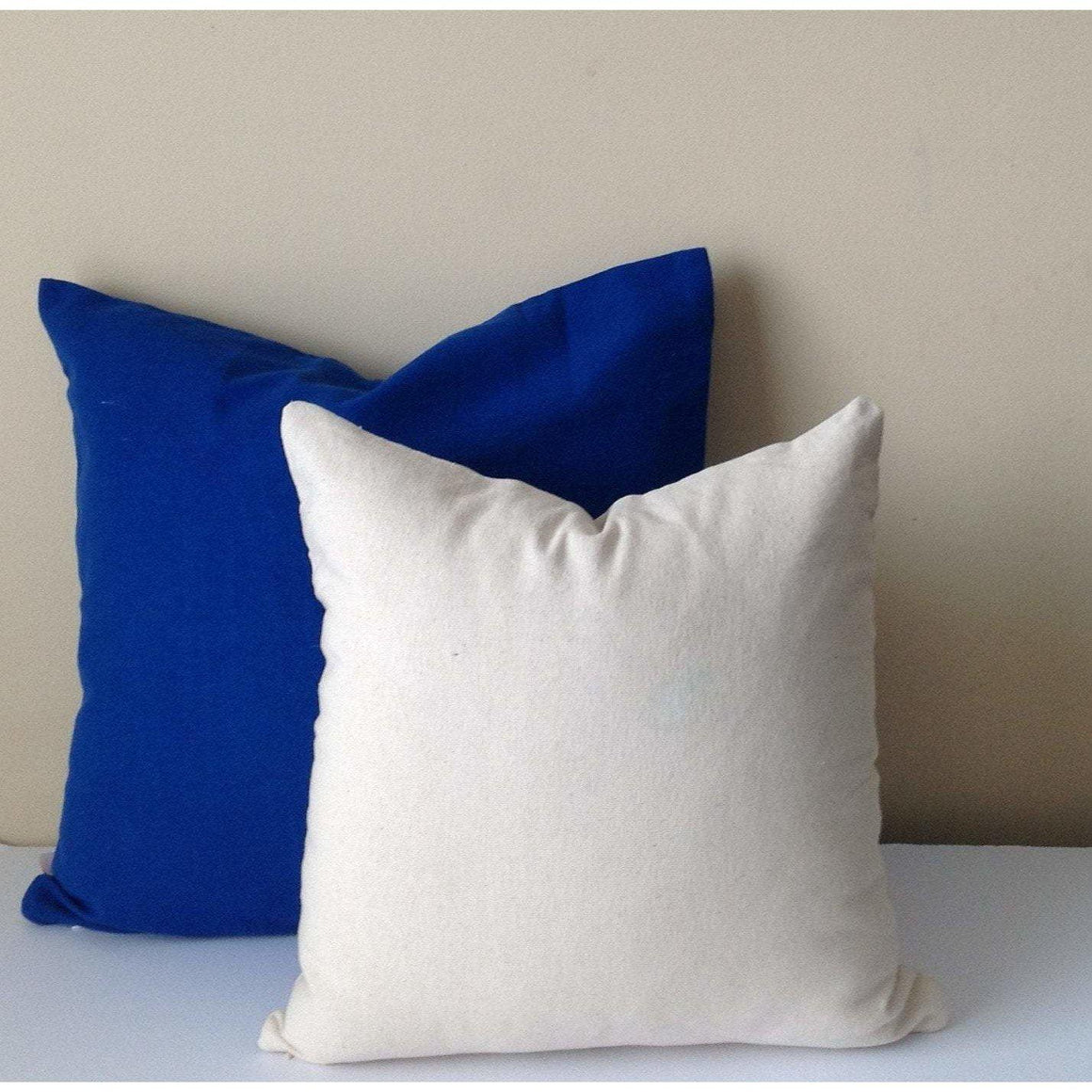 FREE SHIPPING Set of two, Solid cotton Pillows, Big pillow cover, plain pillows, 12x16 12x18 12x20 14x14 16x16 18x18 20x20 24x24 30x30 - Snazzy Living