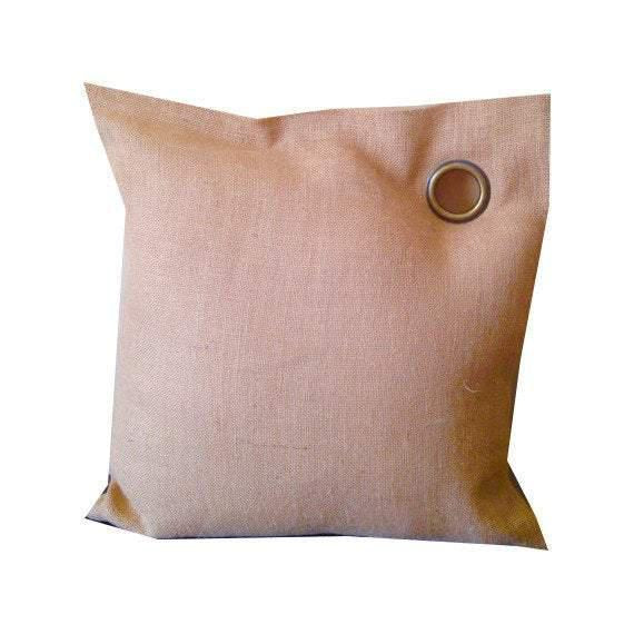 Burlap Pillows, Cabin Decor, Rustic pillows