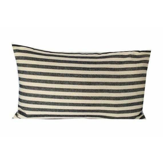 Farmhouse French Ticking Lumbar Pillow Cover, Farmhouse Stripes Pillow Cover, Farmhouse Ticking Home Decor