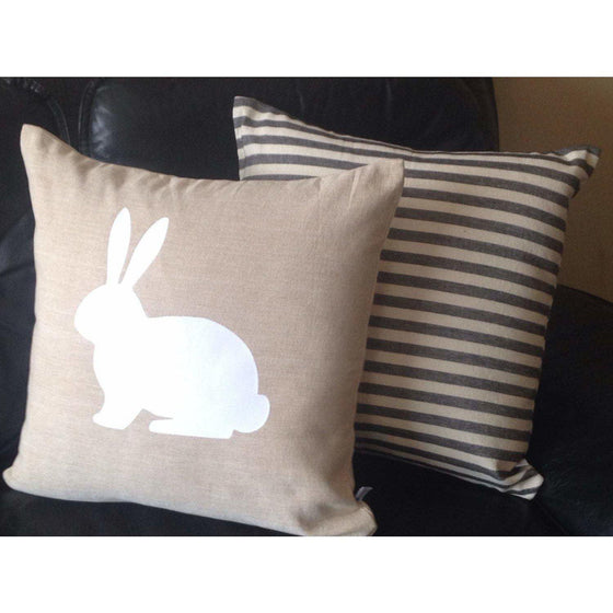 FREE SHIPPING Easter Pillows, Home Decor, Easter Decorative Pillow Covers, Rabbit pillows, Rabbit Pillows, - Snazzy Living