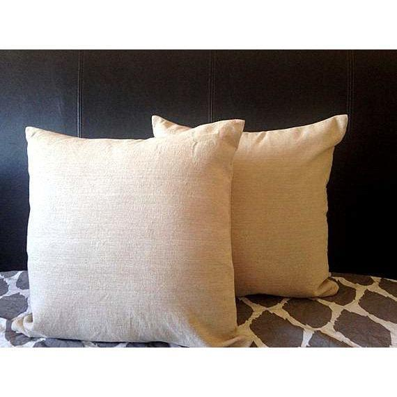 Beige Cotton Pillows