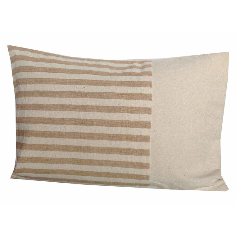 Vintage Inspired Pillows, Designer Pillows, Stripes Block Pillow cover 12x18-Decorative House Decor
