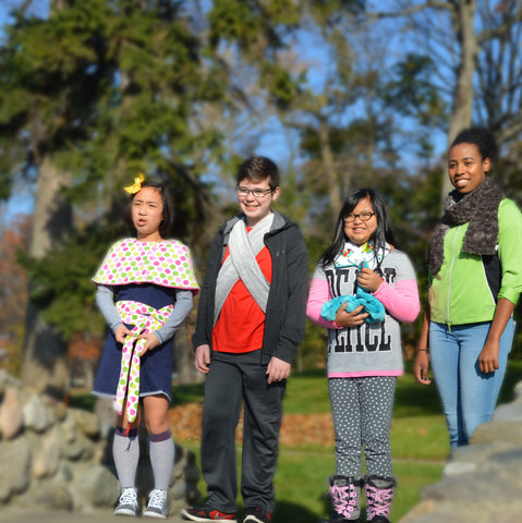Children with Wearables at park