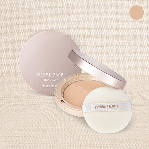 (Holika Holika) Naked Face Fixing Pact #01 Gorgeous Beige