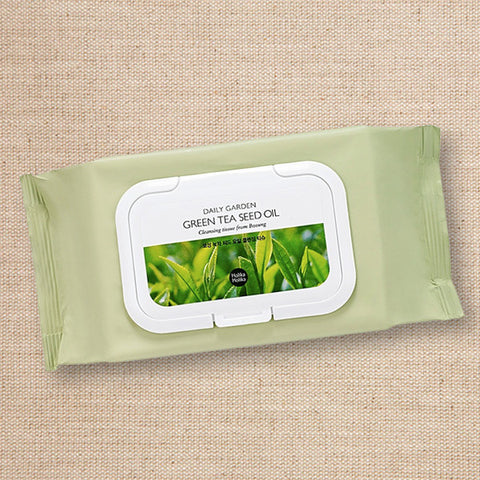 (Holika Holika) Daily Garden Green Tea Seed Oil Cleansing Tissue From Bosung