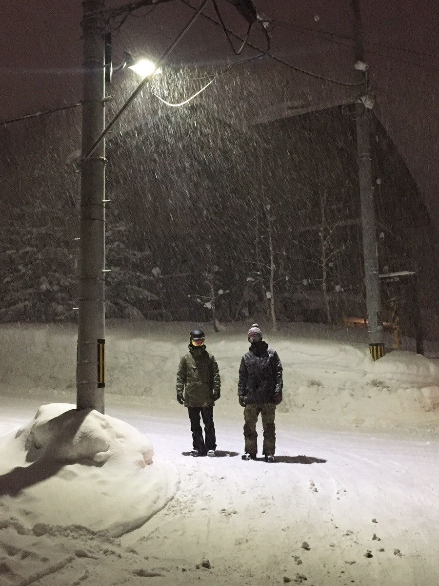 Snowfall in Niseko