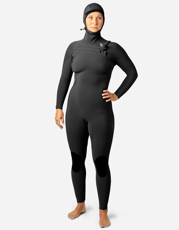 Custom Womens Surf Hooded Fullsuit