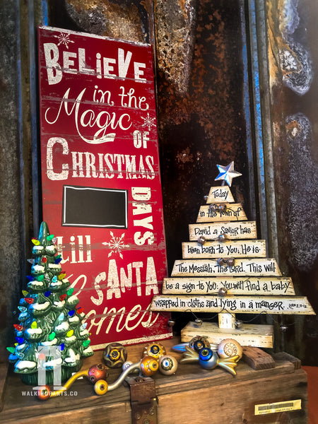 Our New 2017 Believe in Christmas Magic Countdown Sign