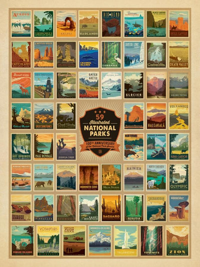 Buy 100th Anniversary of the 59 National Parks, Wilderness Wonder, 500 Piece Jigsaw Puzzle from Walking Pants Curiosities, the Most un-General Gift Store in Downtown Memphis, Tennessee!