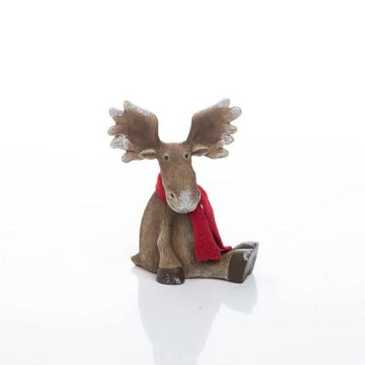 Buy Christmas Moose Figurine from Walking Pants Curiosities, the Most un-General Gift Store in Downtown Memphis, Tennessee!