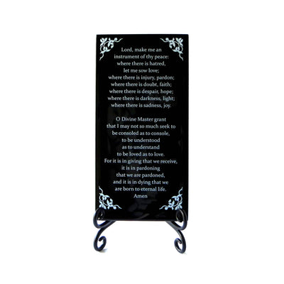 Buy The Prayer Of St. Francis Inspirational Glass Plaque from Walking Pants Curiosities, the Most un-General Gift Store in Downtown Memphis, Tennessee!