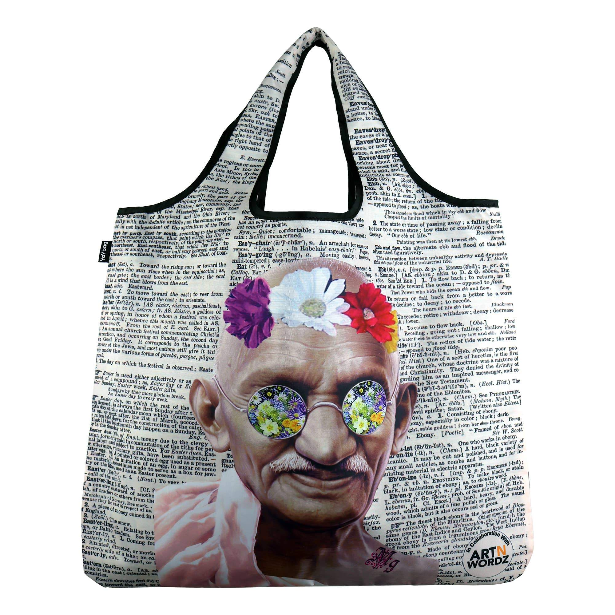 Buy Gandhi Flower YaYbag Original Reusable Bags from Walking Pants Curiosities, the Most un-General Gift Store in Downtown Memphis, Tennessee!