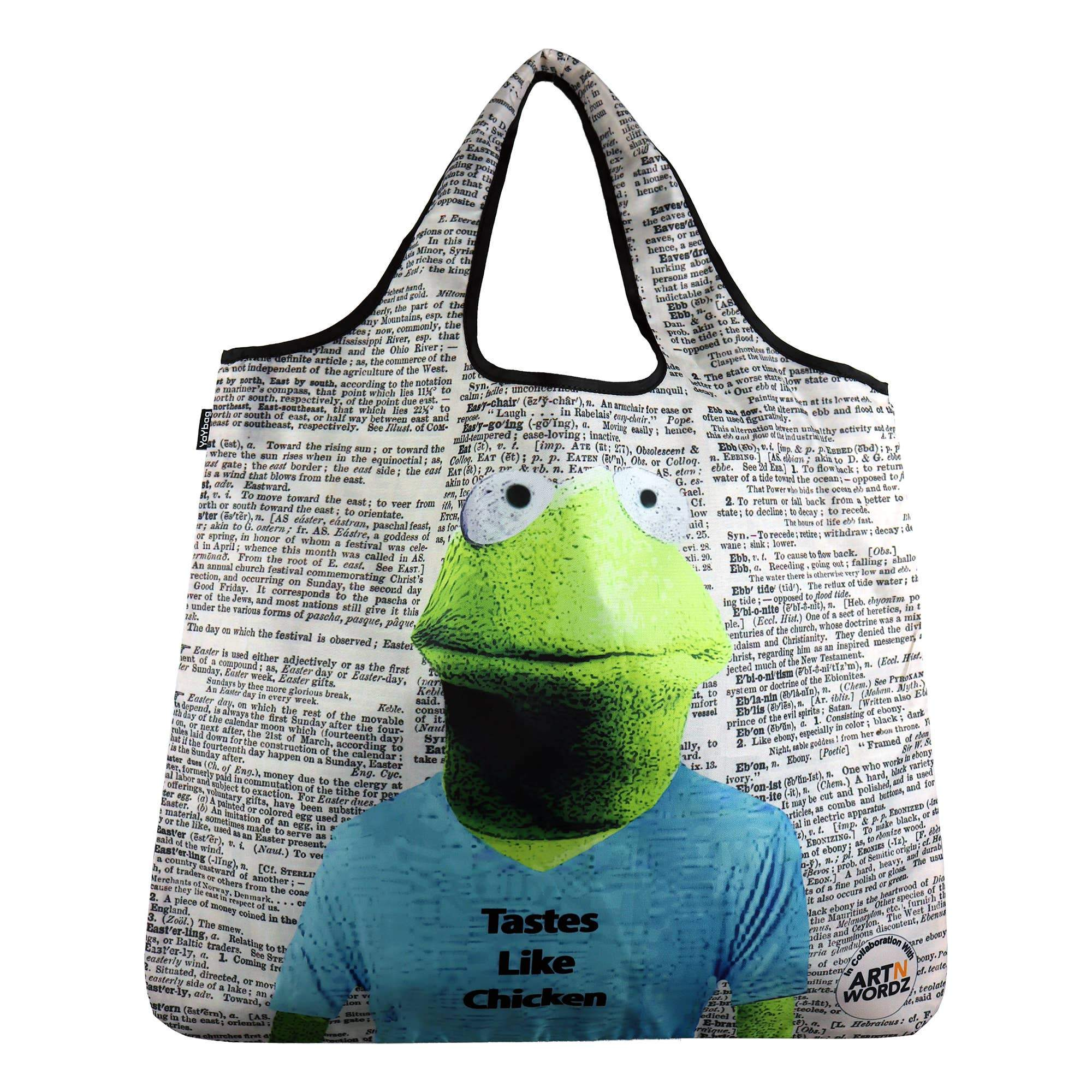Buy Kermit the Frog Wearing Tastes Like Chicken YaYbag ORIGINAL from Walking Pants Curiosities, the Most un-General Gift Store in Downtown Memphis, Tennessee!