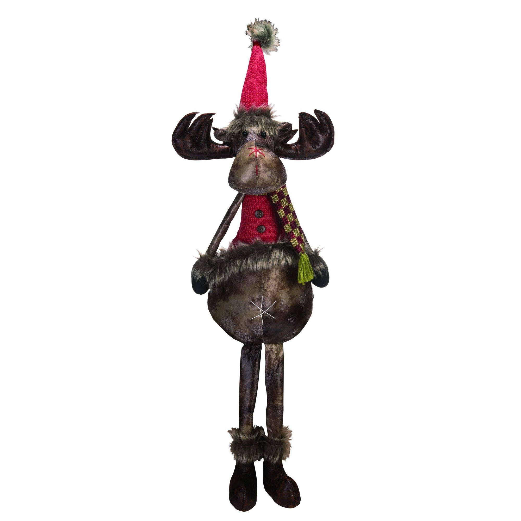 Buy Christmas Moose Shelf Sitter from Walking Pants Curiosities, the Most un-General Gift Store in Downtown Memphis, Tennessee!