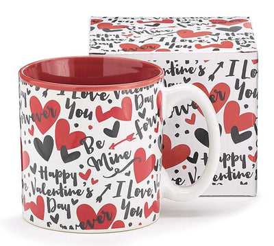 Buy Valentine's Day Romance Notes Ceramic Coffee Mug from Walking Pants Curiosities, the Most un-General Gift Store in Downtown Memphis, Tennessee!