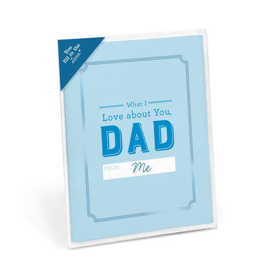Buy What I Love About Dad Fill in the Love® Card Booklet from Walking Pants Curiosities, the Most un-General Gift Store in Downtown Memphis, Tennessee!