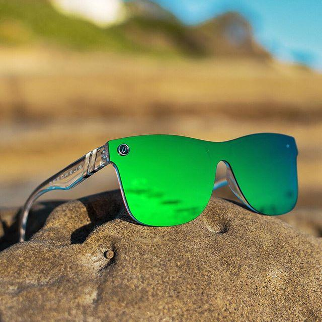 627836dc31 Buy BLENDERS Millennia Midori Splash Clear Green Sunglasses from Walking  Pants Curiosities
