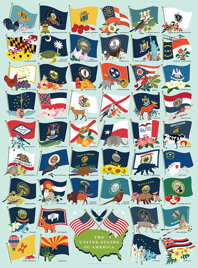 Buy United States Flags, 500 Piece Jigsaw Puzzle from Walking Pants Curiosities, the Most un-General Gift Store in Downtown Memphis, Tennessee!