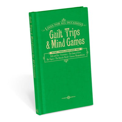 Buy Guilt Trips and Mind Games For All Occasions, a Books from Walking Pants Curiosities, the Best Gift Store in Downtown Memphis, Tennessee!