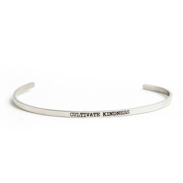 Buy JAECI - Cultivate Kindness Delicate Bangle from Walking Pants Curiosities, the Most un-General Gift Store in Downtown Memphis, Tennessee!