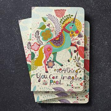 Buy Everything You Can Imagine Is Real Notebook from Walking Pants Curiosities, the Most un-General Gift Store in Downtown Memphis, Tennessee!