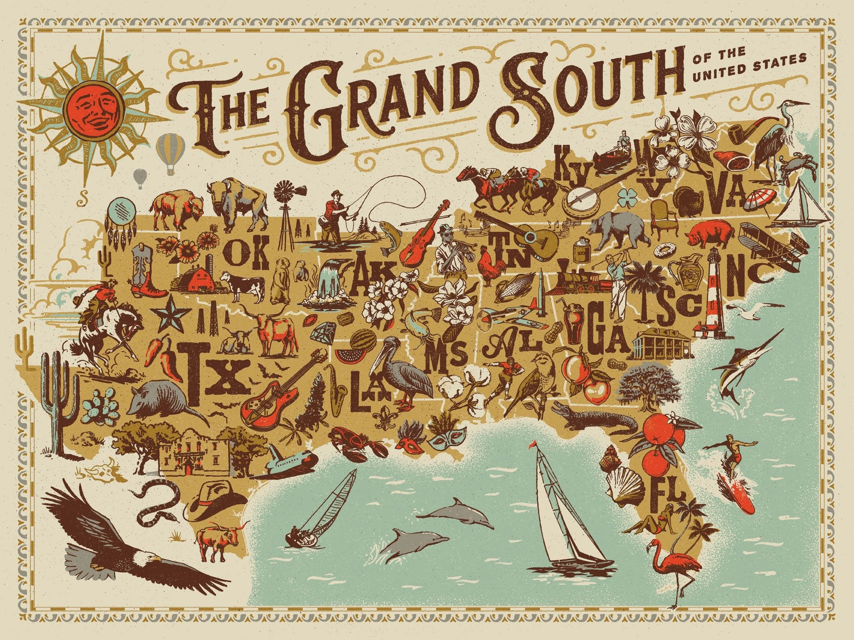 Buy The Grand South, 500 Piece Jigsaw Puzzle from Walking Pants Curiosities, the Most un-General Gift Store in Downtown Memphis, Tennessee!