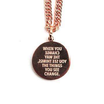 Buy JAECI - When You Change The Way You See Things Necklace from Walking Pants Curiosities, the Most un-General Gift Store in Downtown Memphis, Tennessee!