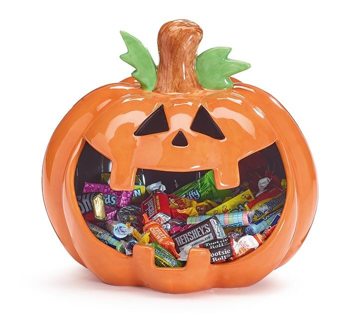 Buy Jack O Lantern Candy Dish from Walking Pants Curiosities, the Most un-General Gift Store in Downtown Memphis, Tennessee!