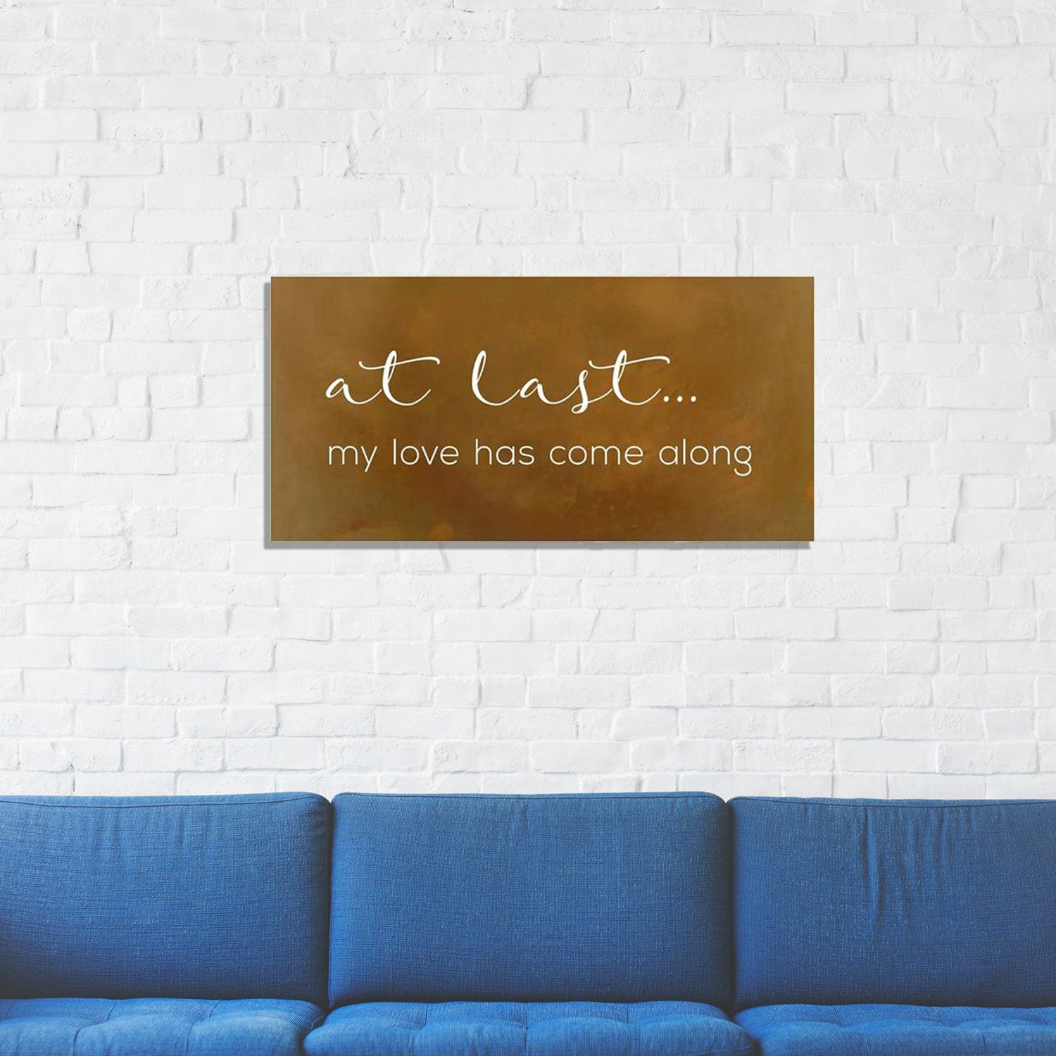 At Last, Song Lyric Metal Wall Art - Walking Pants Curiosities