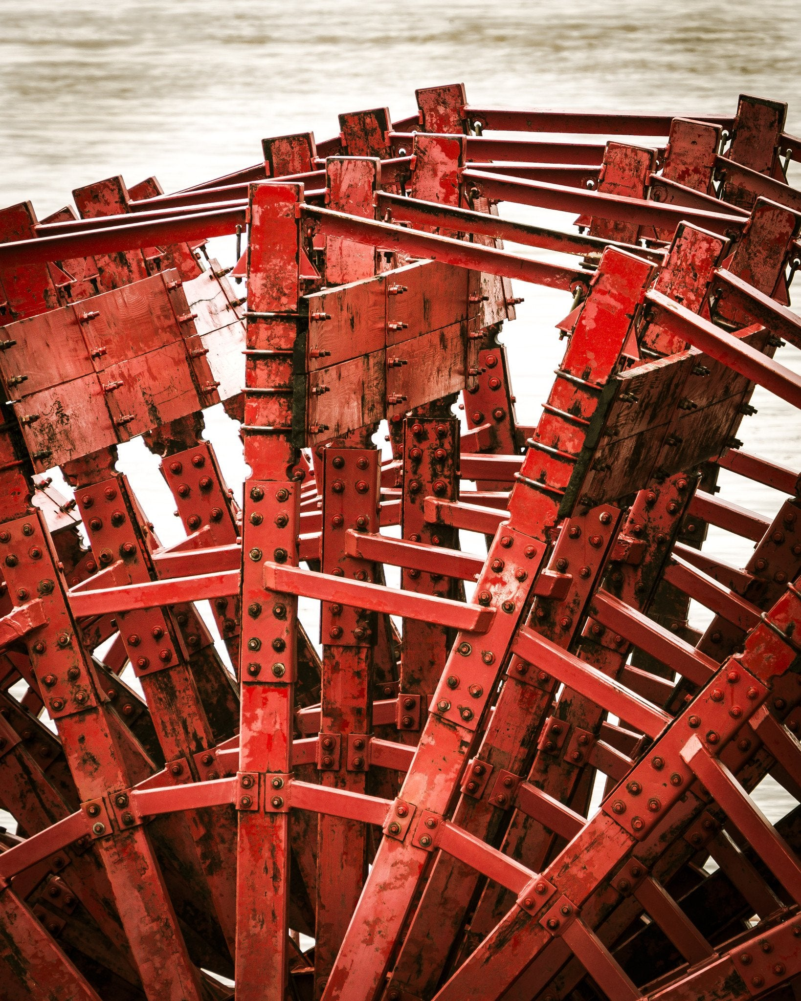 Red Paddlewheel on the Mississippi River - Walking Pants Curiosities