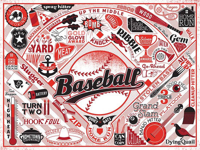 Buy Baseball, 500 Piece Jigsaw Puzzle from Walking Pants Curiosities, the Most un-General Gift Store in Downtown Memphis, Tennessee!