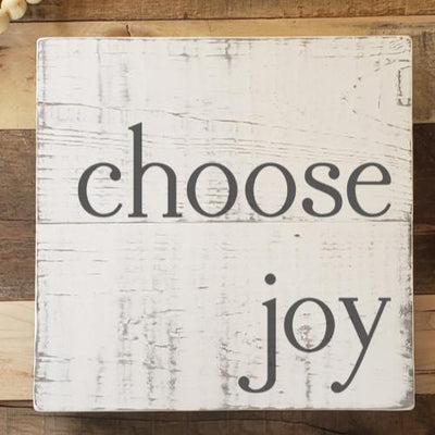 Buy Choose Joy, a Rustic Wood Sign from Walking Pants Curiosities, the Most un-General Gift Store in Downtown Memphis, Tennessee!