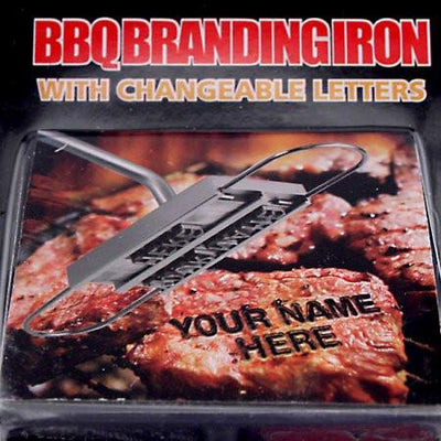 Buy BBQ Branding Iron with Changeable Letters, a For The Grill from Walking Pants Curiosities, the Best Gift Shop Store in Memphis, Tennessee!
