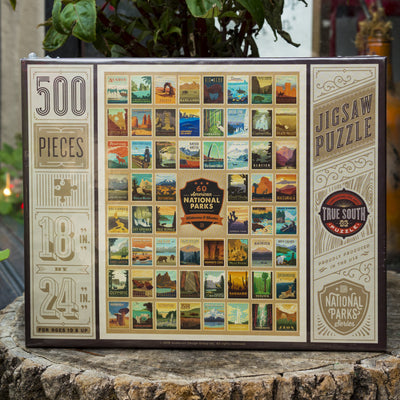 Buy 100th Anniversary of the 60 National Parks, Wilderness Wonder, 500 Piece Jigsaw Puzzle from Walking Pants Curiosities, the Most un-General Gift Store in Downtown Memphis, Tennessee!